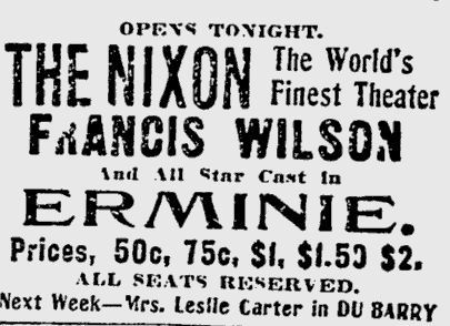 December 7th, 1907 grand opening ad
