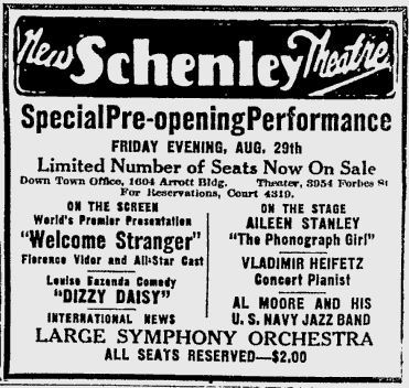 August 29th, 1924 grand opening ad