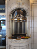 <p>One of the original ticket booths.</p>