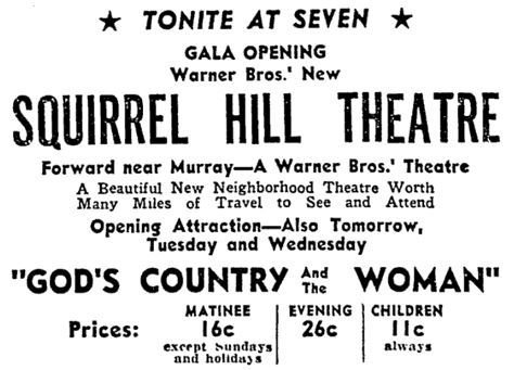 February 2nd, 1937 grand opening ad