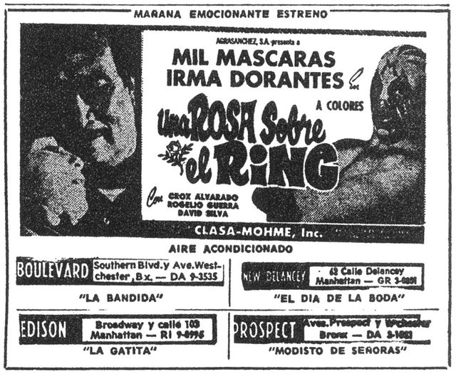 Ad of La Rosa Del Ring
