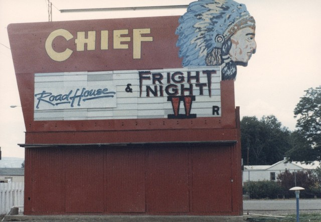 Chief Drive-In Sign 1989