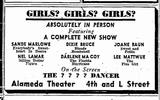 Advert for Alameda Theater