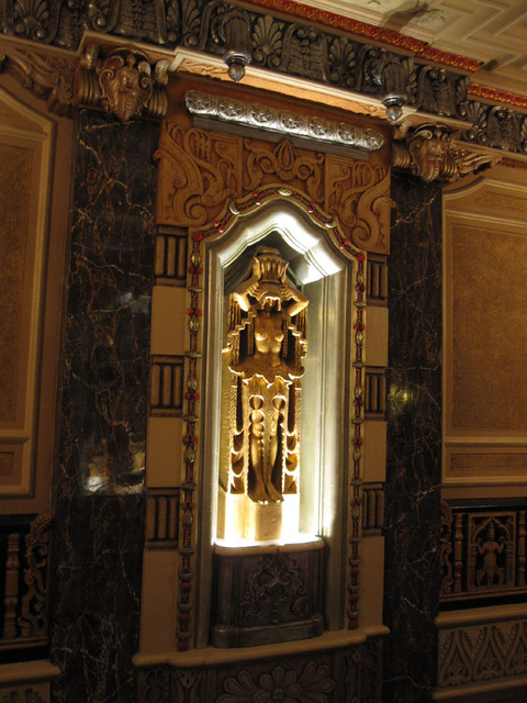 Oriental Theatre - Detail of main foyer upper wall