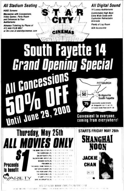 May 25th, 2000 grand opening ad