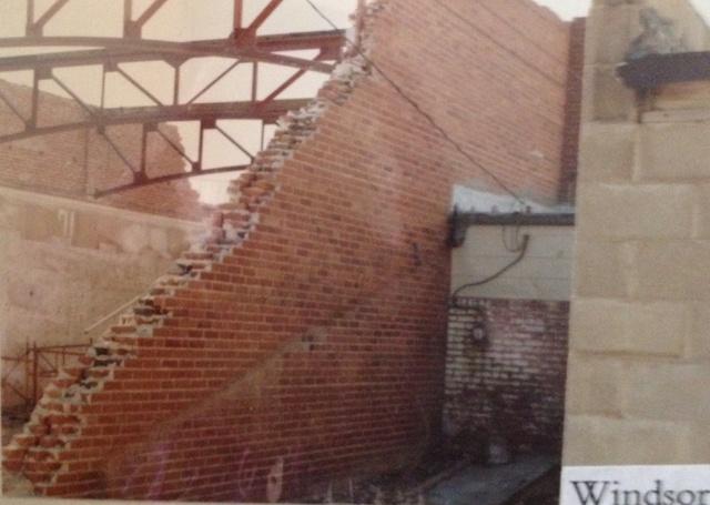 Windsor Theater during demolition