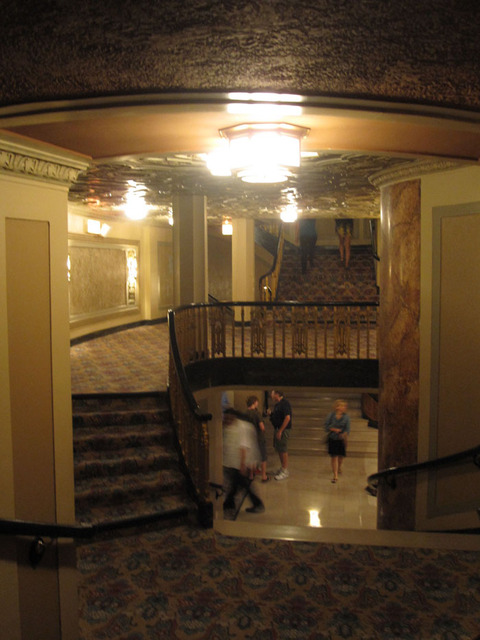 Oriental Theatre - Corridor/stairs from lower balcony to upper foyer