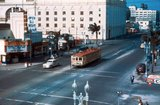 <p>Great shot of the Tower Theater with street cars</p>