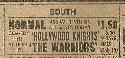 Normal Theater ad from the Chicago Sun-Times July 17, 1980 newspaper.