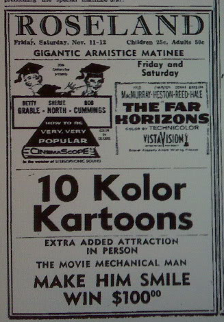 Roseland ad from November 1955