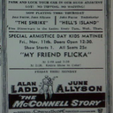 Newspaper ad showing what was playing at the Normal Theatre.