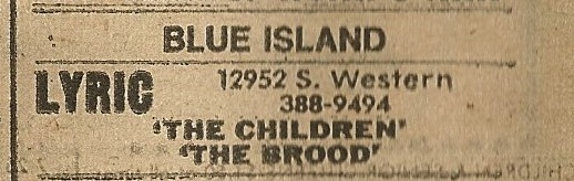 Lyric Theatre ad from the Chicago Sun-Times Thursday newspaper July 17, 1980.