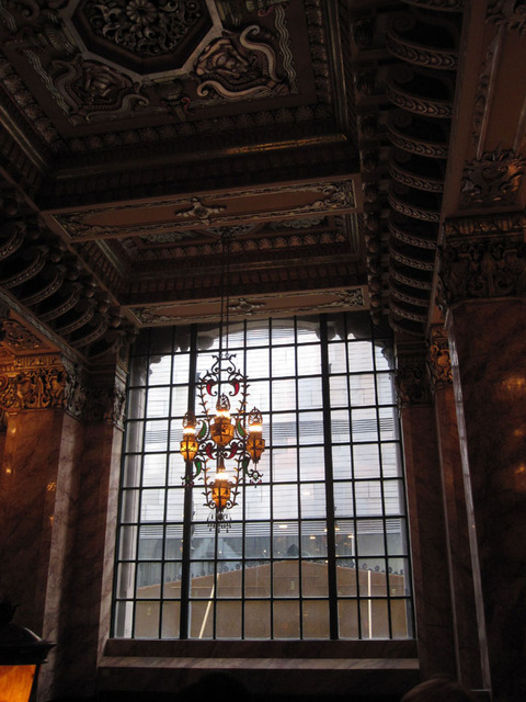 Oriental Theatre - Main Lobby looking out entrance window
