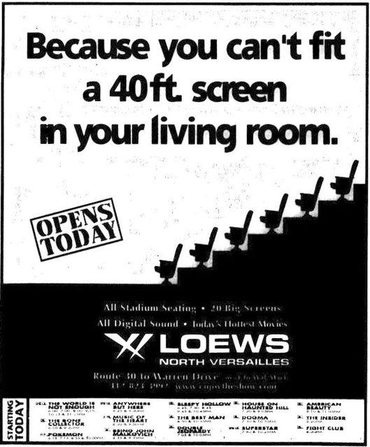 November 23rd, 1999 grand opening ad