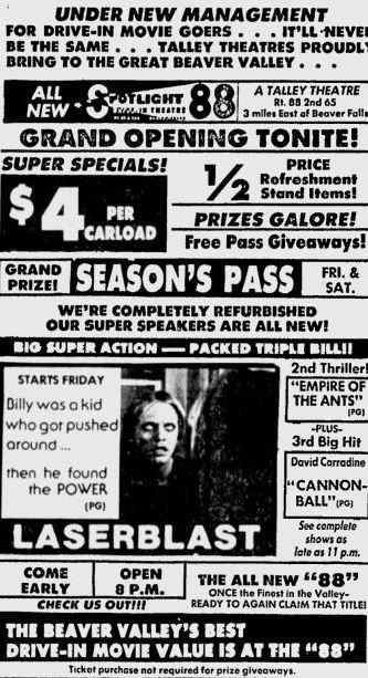 June 23rd, 1978 grand reopening ad