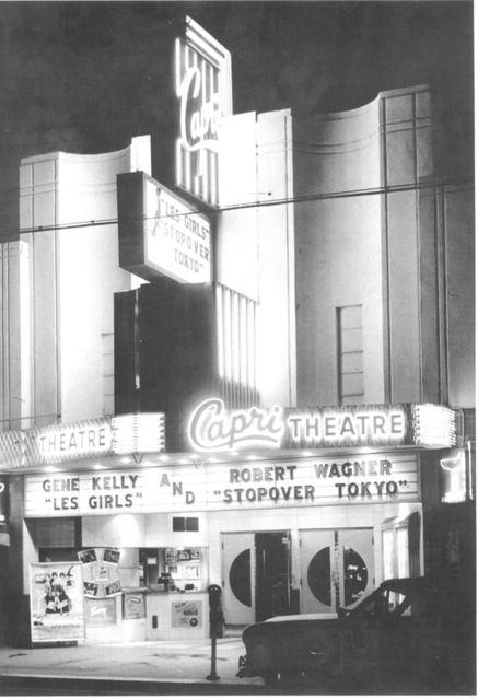 "As ""The Capri"" 1957"