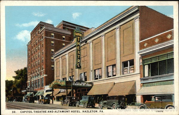 Exterior of the Capitol Theatre, Hazleton PA