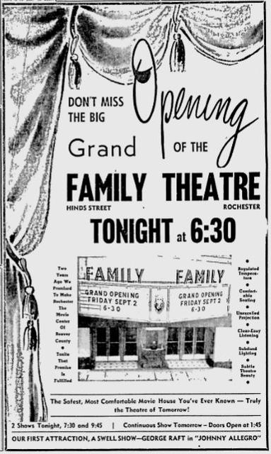September 2nd, 1949 grand opening ad