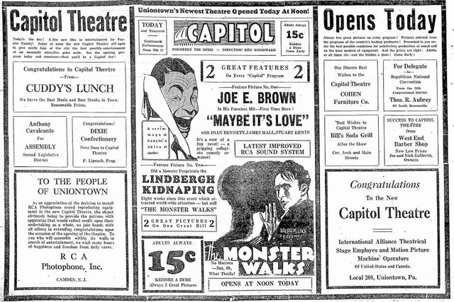 April 22nd, 1932 grand opening ad