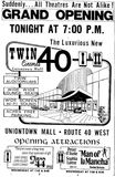 Twin 40 I & II grand opening ad from May 23rd, 1973