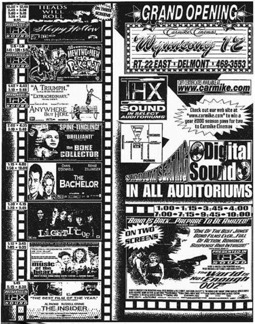 November 19th, 1999 grand opening ad