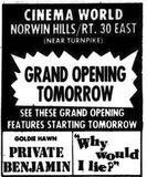 October 9th, 1980 grand opening ad