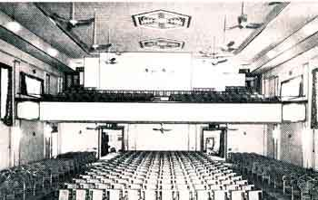 The auditorioum of the China Fleet Club Theatre