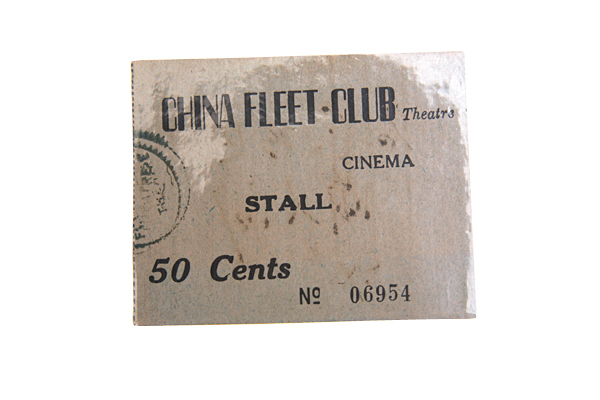 Ticket of the China Fleet Club Theatre