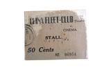 Ticket of the China Fleet Club Theatre