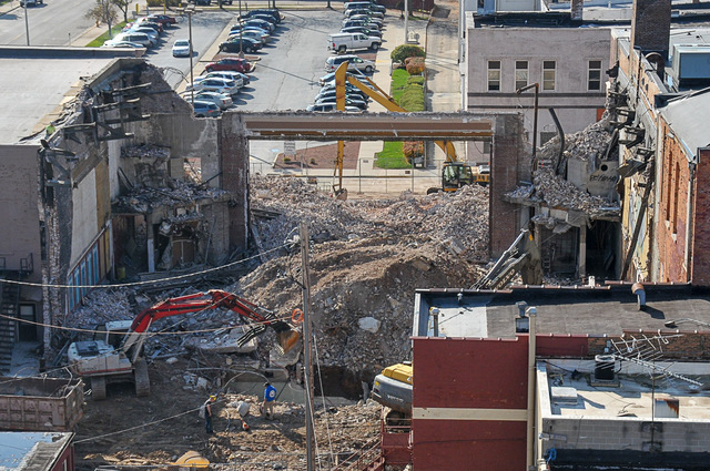 Retlaw Theatre demolition nears completion