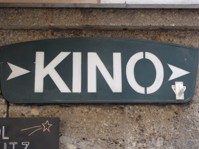 A sign for the Mozart Kino