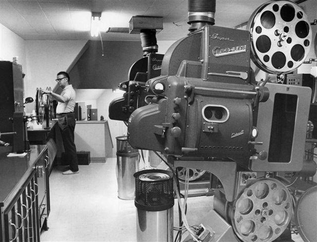 UA Cinema 150 projectionist booth 7-17-70