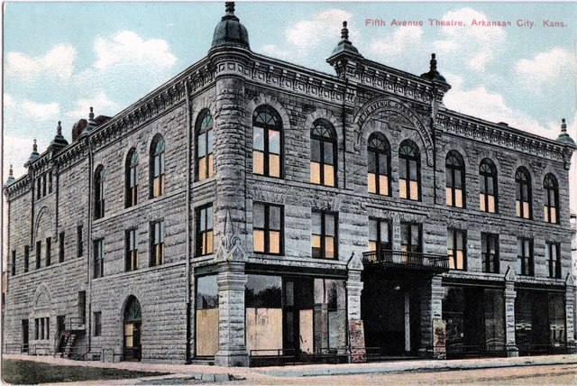 Ranney's Fifth Avenue Opera House, Arkansas City, Kansas.