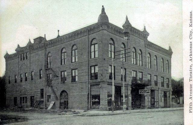 Ranney's Fifth Avenue Opera House, Arkansas City, Kansas.