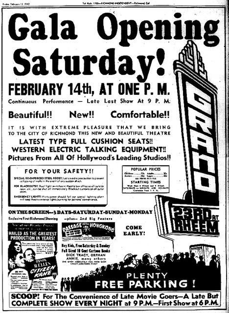 Grand Theatre Grand Opening 1942