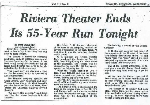 Riviera closing article