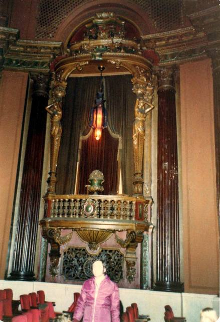 Ridgewood Theatre stage left organ screen