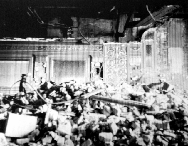 Inside view of the Stanley Theatre during demolition in 1965