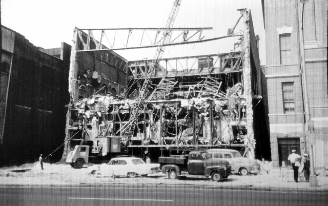 Demolition Of The Stanley Theatre in Baltimore 1965