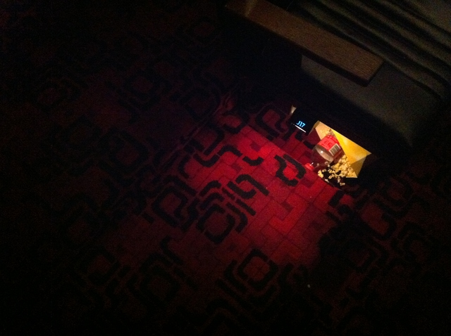 The original 1970's carpet in Cinema 5.