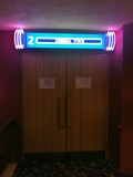 The door to Cinema 2 on the Lower Level