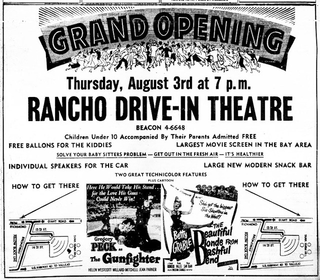 Rancho Drive-In Grand Opening 1950