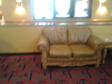 the recliner in the riverdale 10 lobby
