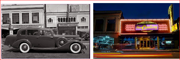 Larkin Theater---  then and now