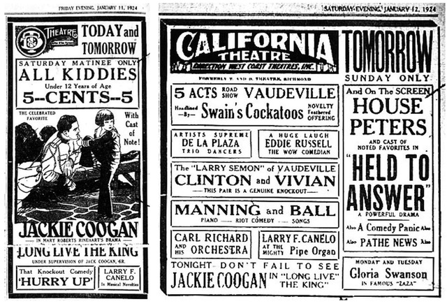 Name Change T & D to California 1924