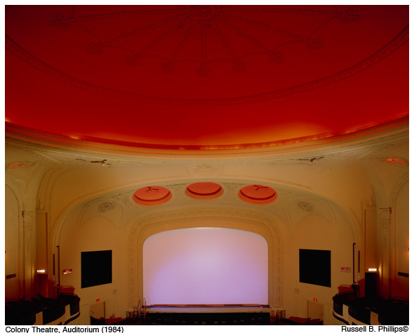 Colony Theater auditorium (stage view) in 1984.