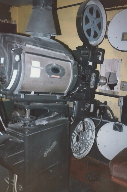 Projection room Orpheum Theatre 1983