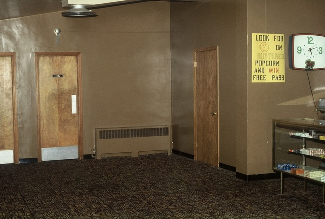 Mill Theatre lobby 1981