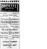 Roosevelt Theatre program