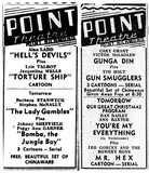 December 1949 at the Point Theatre